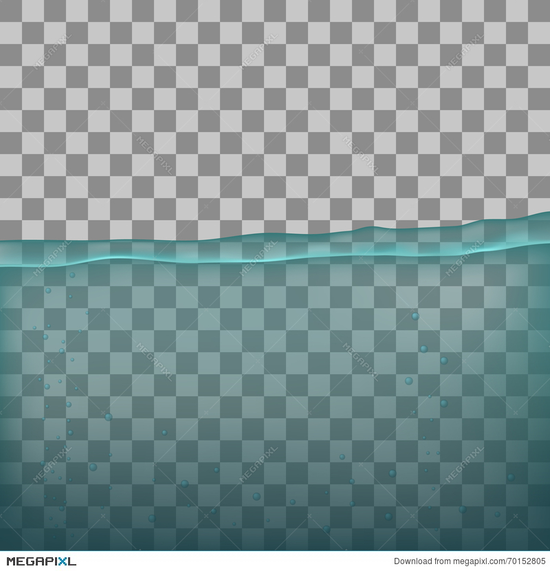 Water Sea Ocean With Transparency On Transparent Background