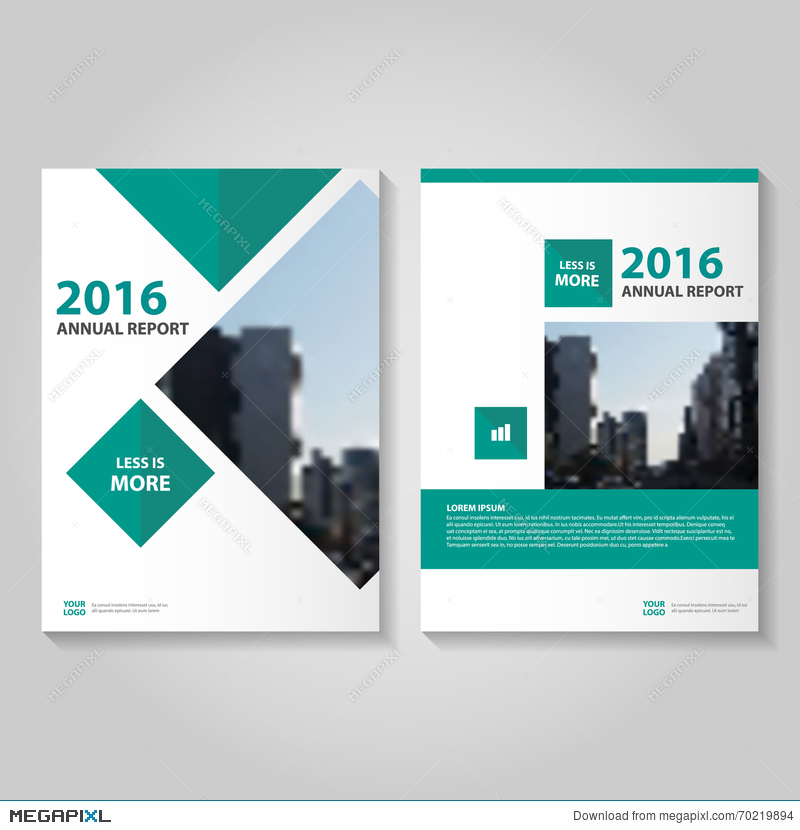 Green Vector Annual Report Leaflet Brochure Flyer Template Design