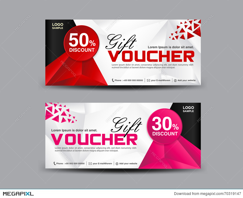 Attractive Discount Voucher Template, Coupon Design,ticket, Banner Template  Free Discount Vouchers