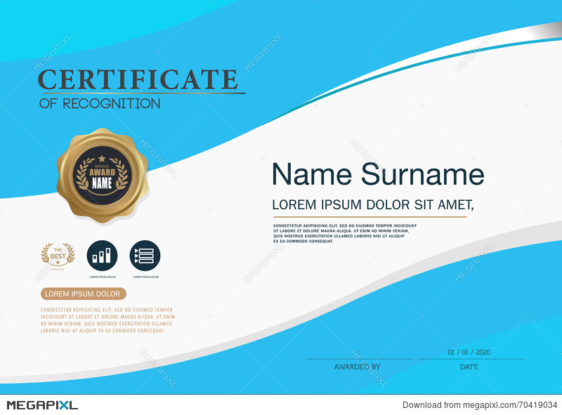 Certificate frame design template layout template in a4 size certificate frame design template layout template in a4 size yadclub Image collections
