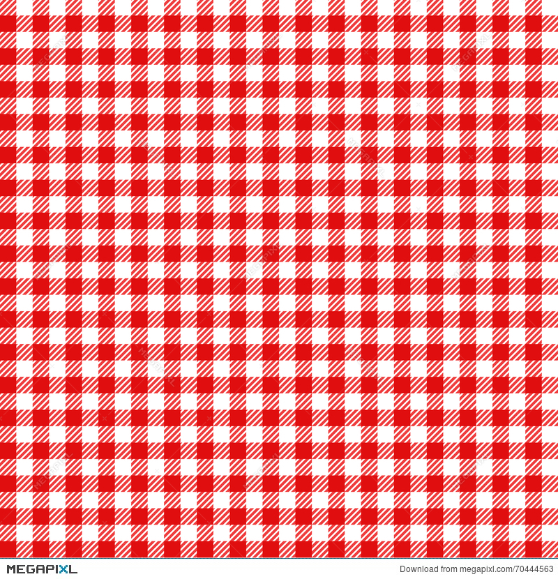 Red And White Checked Tablecloth Pattern Checkered Picnic
