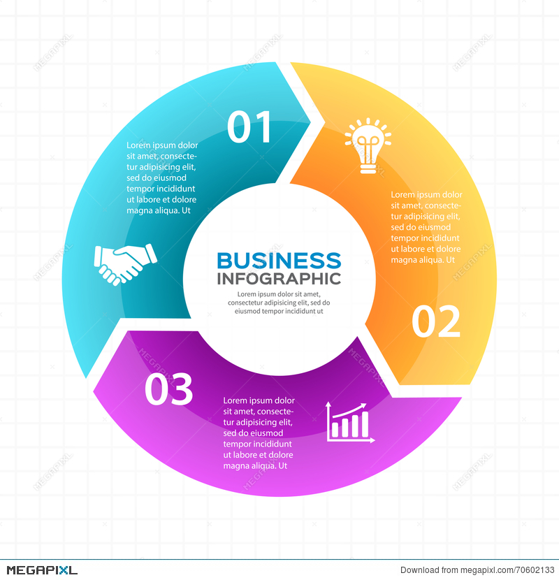 Vector circle arrows infographic diagram graph presentation royalty free ccuart Image collections