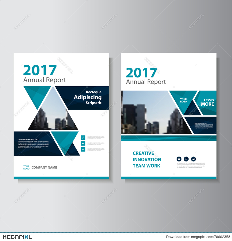 Triangle Vector Annual Report Leaflet Brochure Flyer Template Design