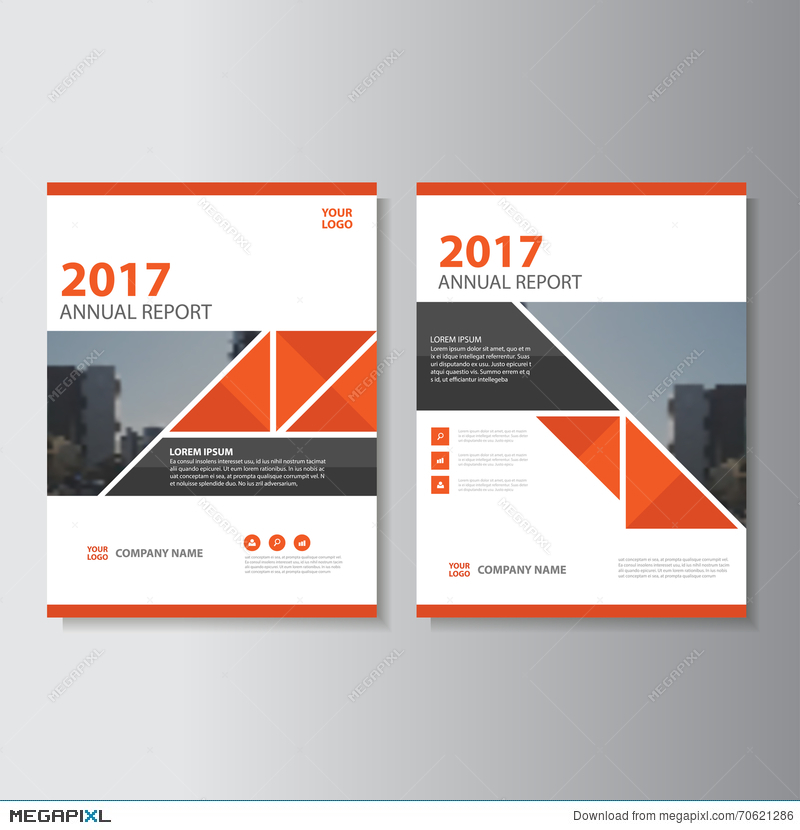 triangle vector annual report leaflet brochure flyer template design book cover layout design abstract