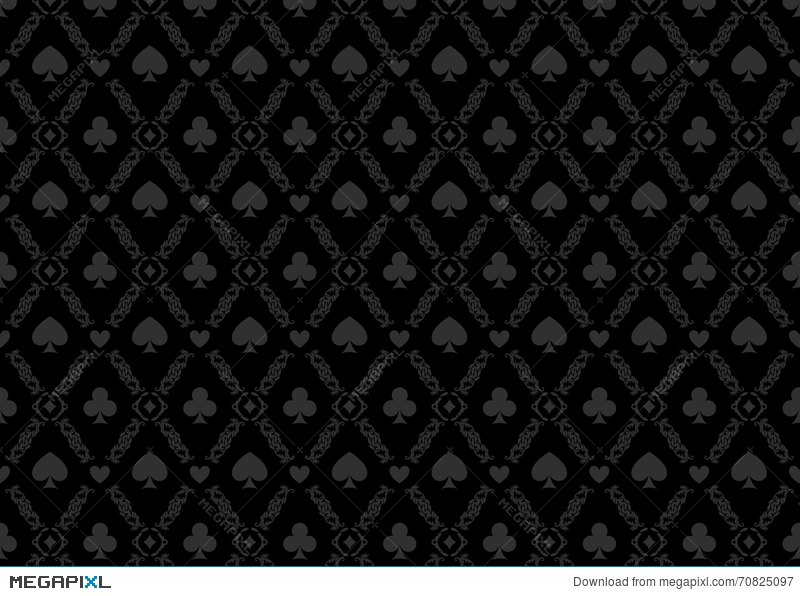 Luxury Casino Gambling Poker Background Pattern With Card Symbols Illustration 70825097 Megapixl