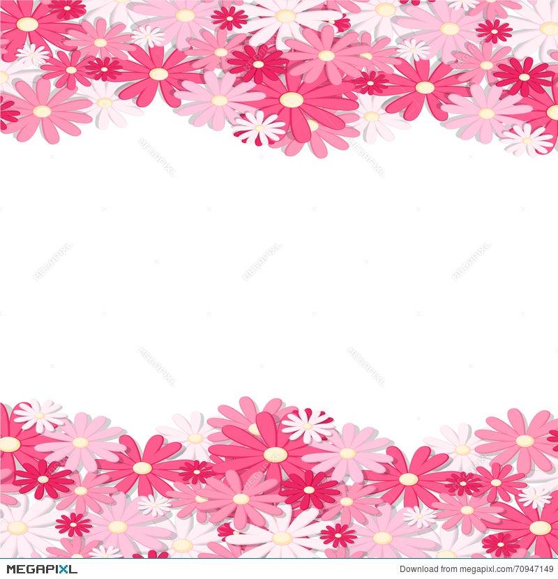 Pink flower border elegant vintage card design floral wallpaper pink flower border elegant vintage card design floral wallpaper horizontally seamless pattern mightylinksfo