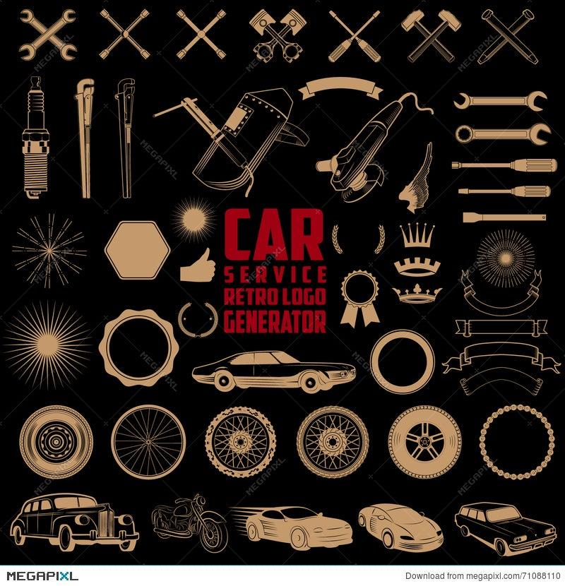 Car service logo generator illustration 71088110 megapixl car service logo generator voltagebd Image collections