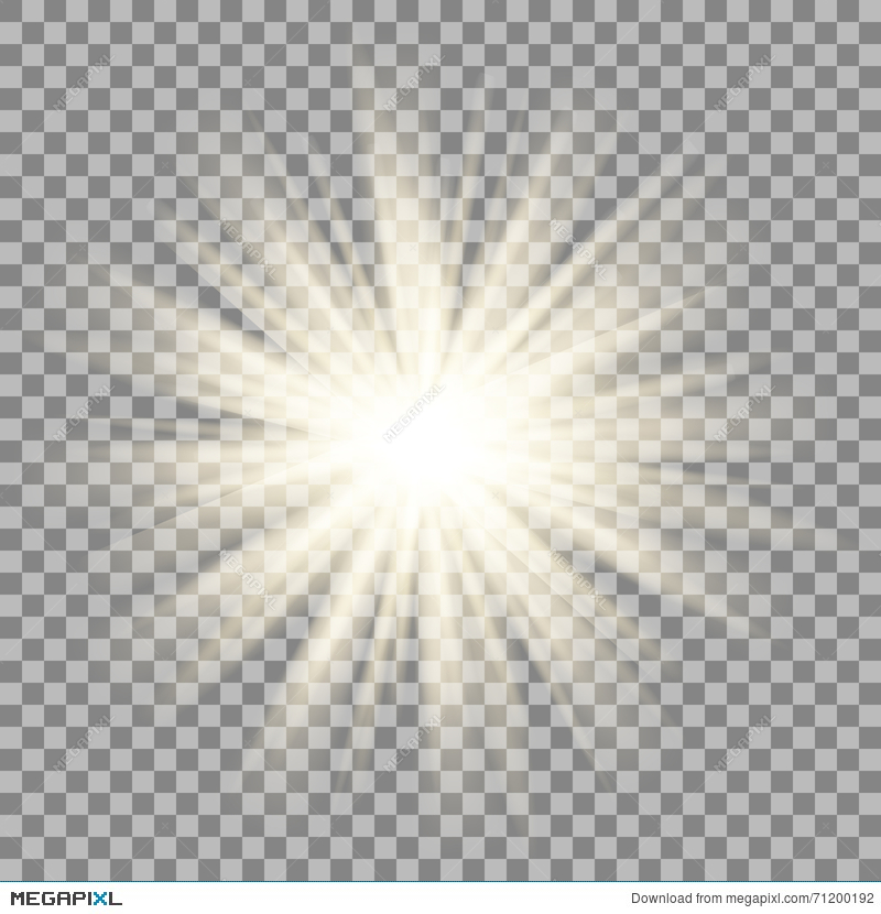 Sun Rays On Transparent Background Star Flare Effect