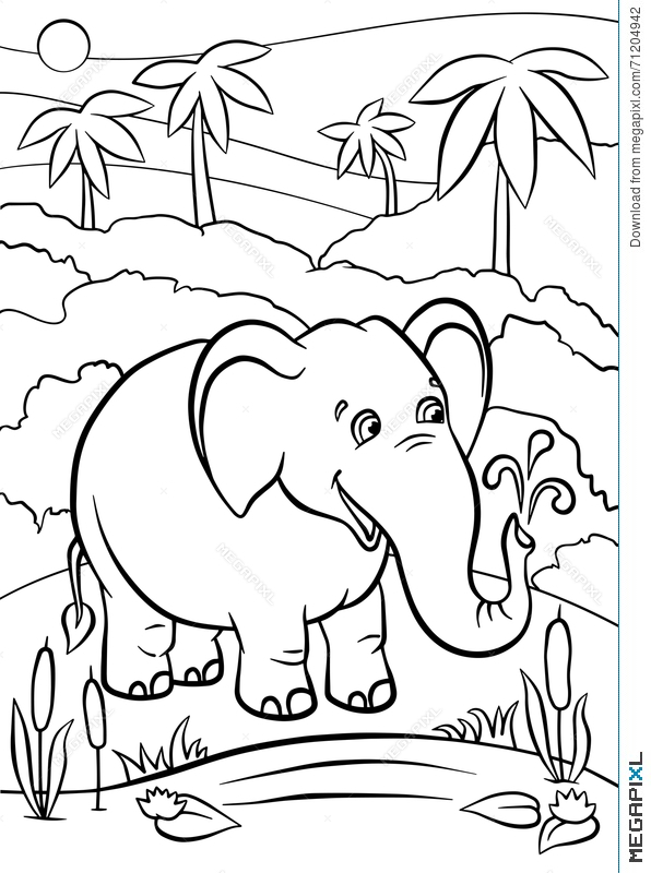 11 Best Cute Baby Elephant Coloring Pages images | Elephant ... | 800x596