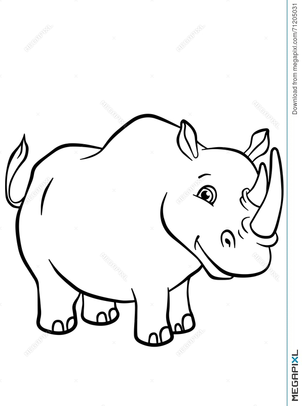 Rhinos Coloring Pages - Coloring Home | 800x596