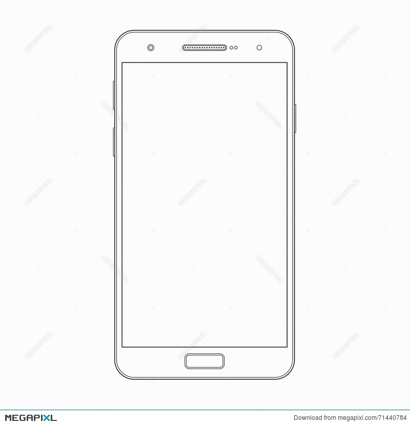 vector smartphone outline template phone icon illustration 71440784