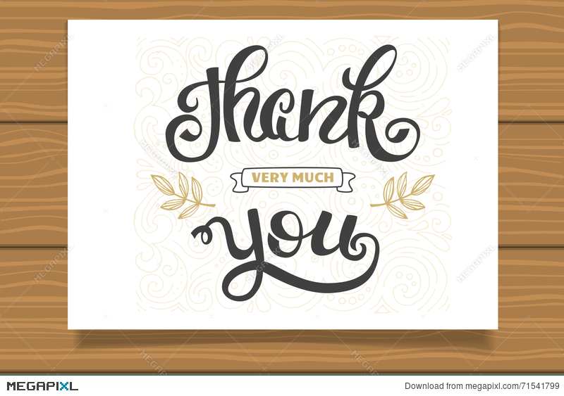 Thank You Hand Lettering Sign For A Card Template Thanksgiving - Thanksgiving card template