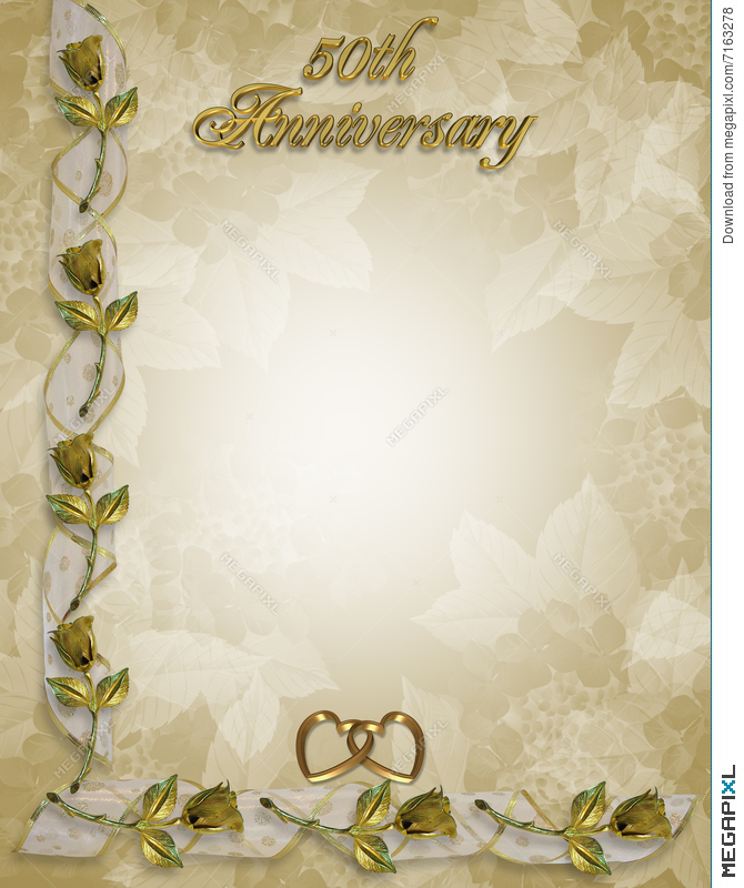 50th anniversary border roses illustration 7163278 megapixl 50th anniversary border roses stopboris Image collections