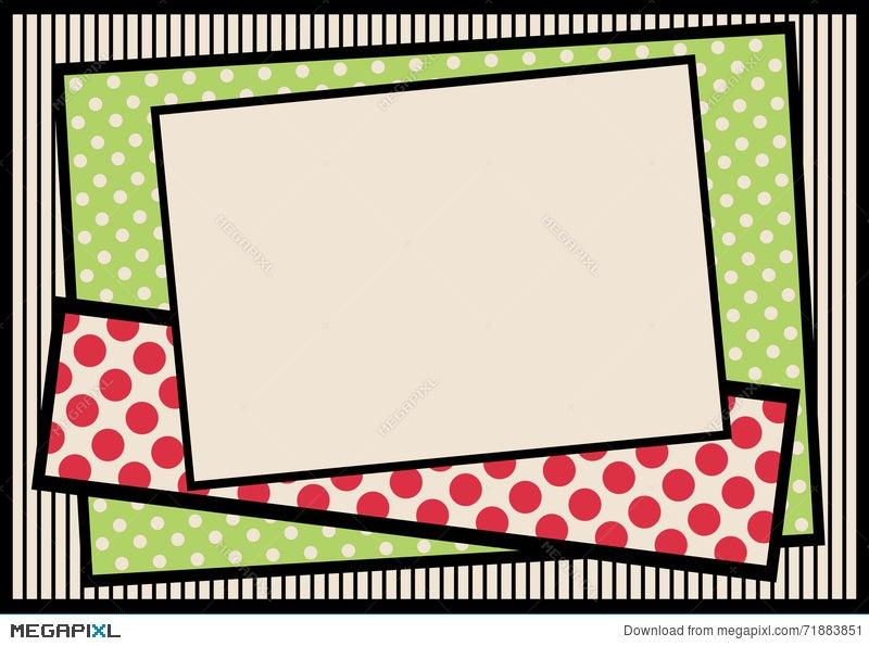 Polka Dots And Stripes Border Frame Illustration 71883851 - Megapixl