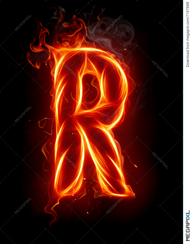 Fire letter r illustration 7197698 megapixl fire letter r thecheapjerseys Image collections