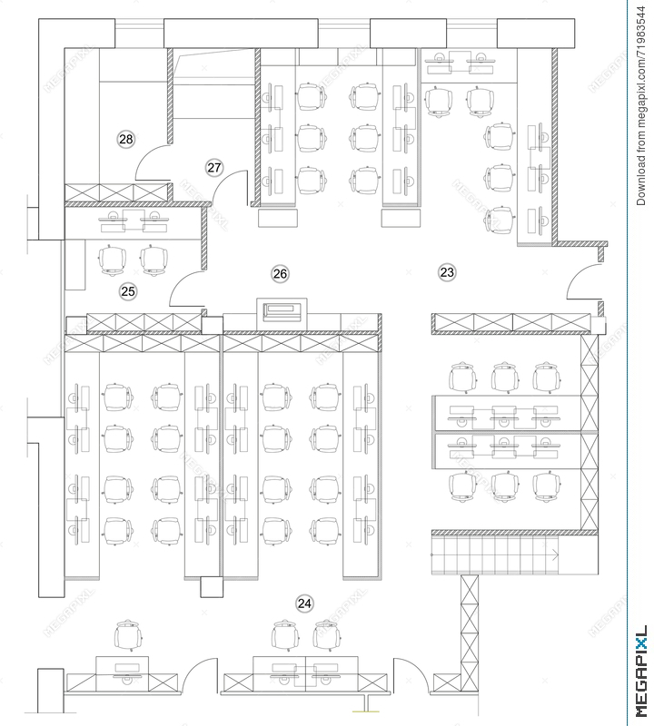 office furniture planning. Standard Office Furniture Symbols On Floor Plans Planning