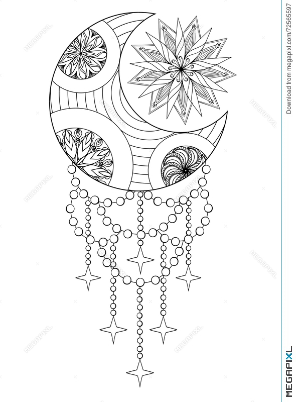 Moon Sun Stars Adult Coloring Pages - Adult Coloring Pages ... | 800x590