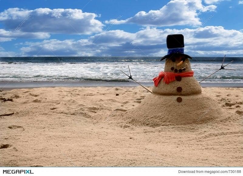 Snowman Sandman Beach Scene Add Family For Portraits
