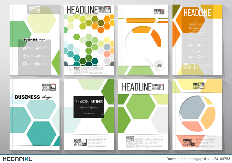 Set Of Templates For Brochure Flyer Or Booklet Abstract Colorful