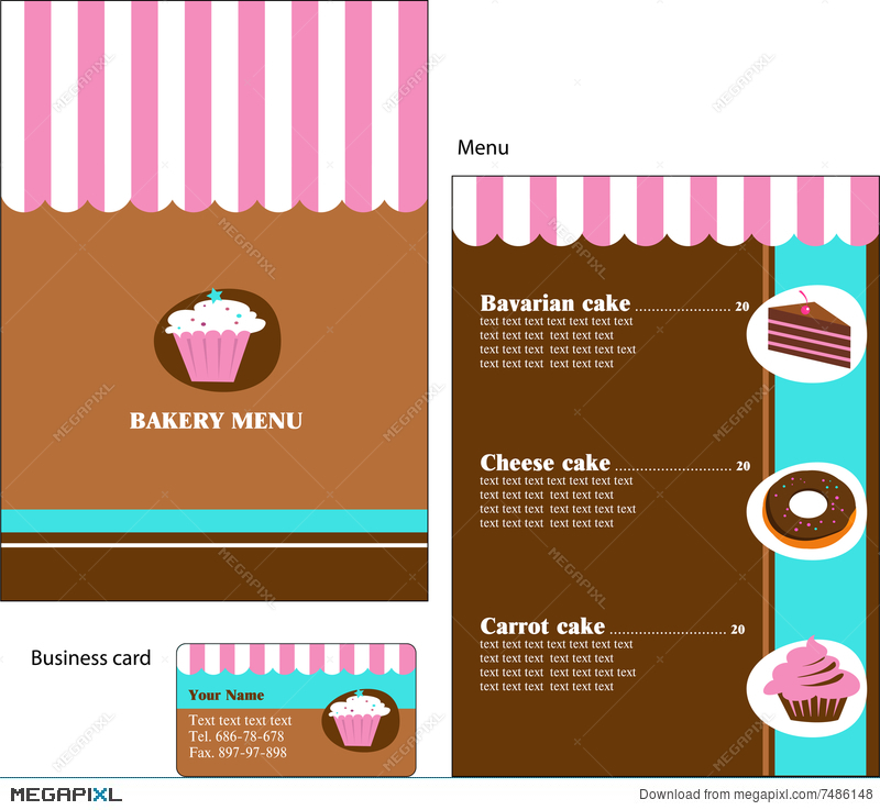 Template Designs Of Bakery And Restaurant Menu Illustration 7486148
