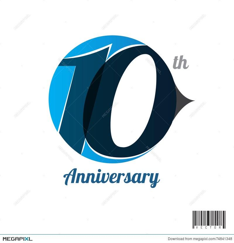 10 Years Anniversary Logo And Symbol Design Illustration 74841348