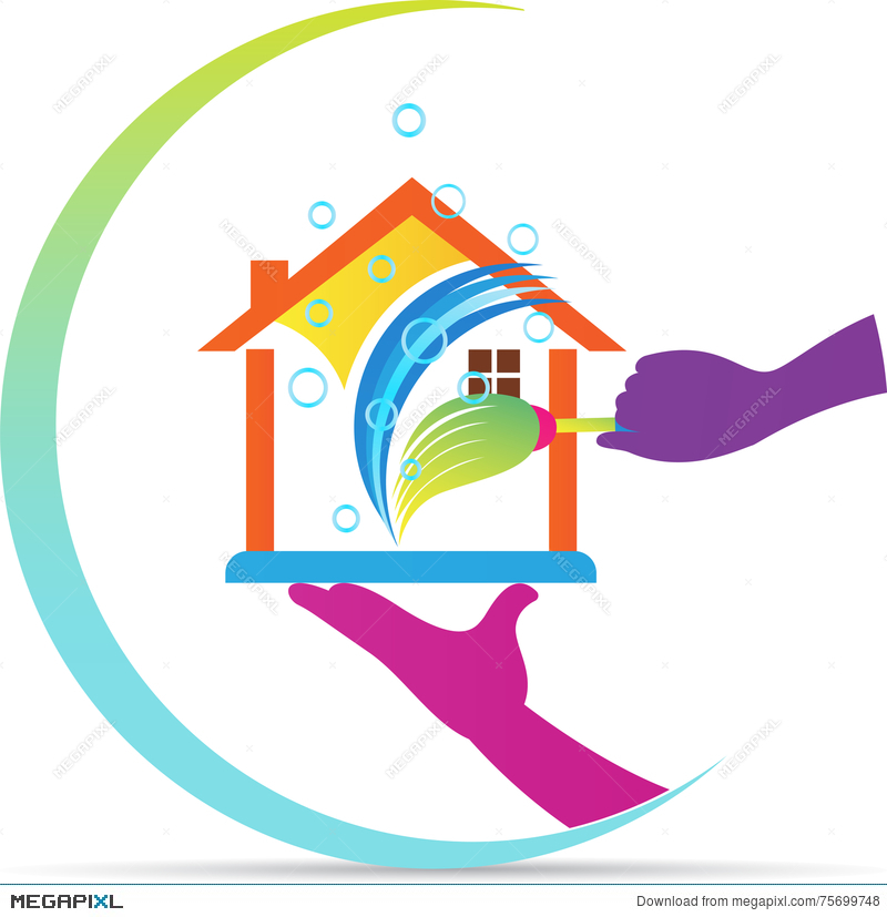 home cleaning service logo