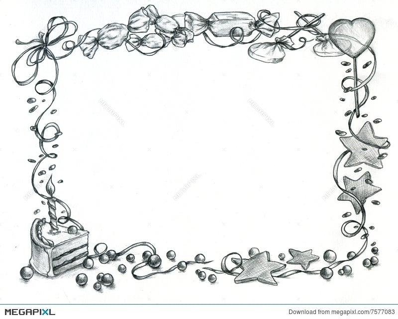 Happy Birthday Frame Illustration 7577083 - Megapixl