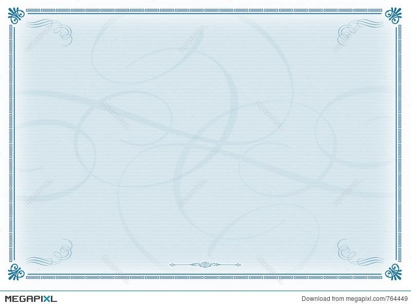 Certificate template blue stock photo 764449 megapixl certificate template blue yelopaper Image collections
