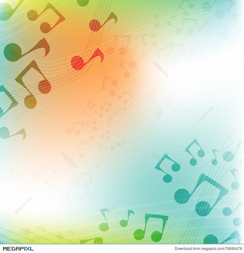 International Music Day multicolor Flat Music Background