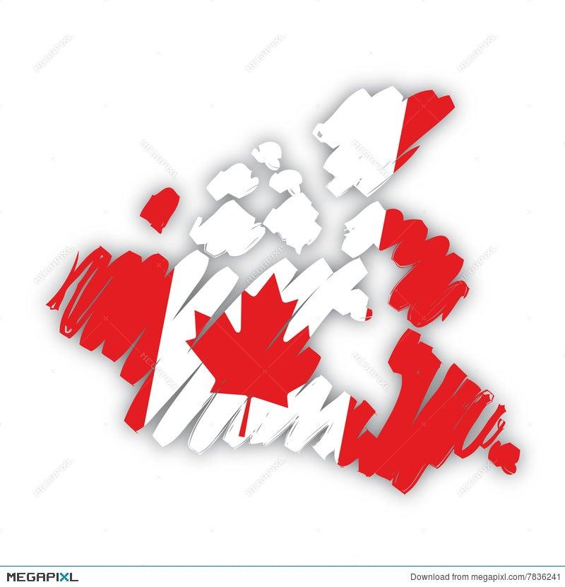 Canada Map Flag.Vector Map Flag Canada Illustration 7836241 Megapixl
