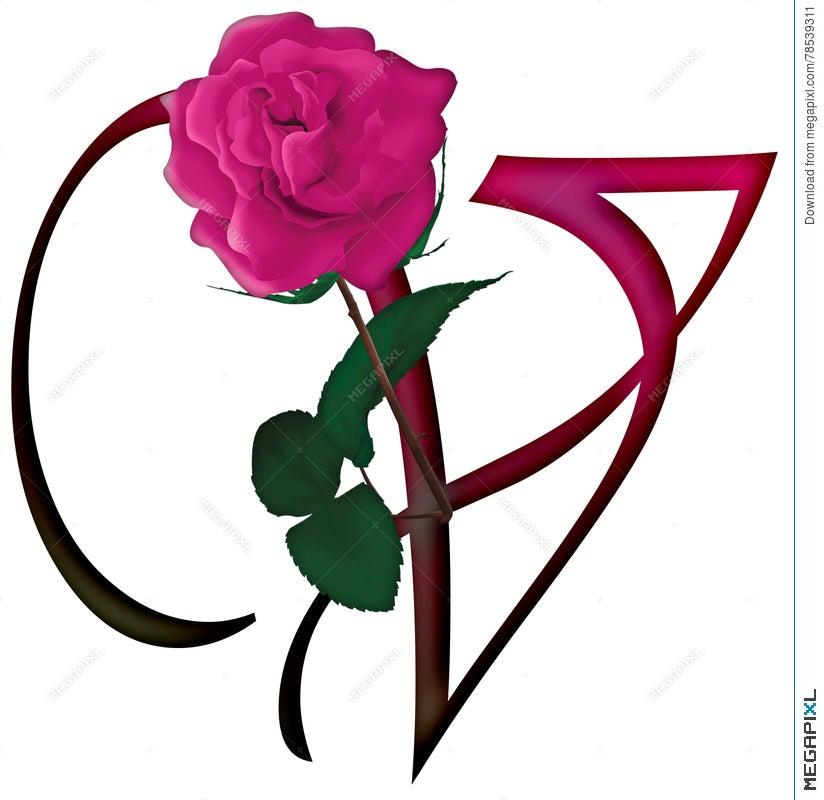 Letter v floral font illustration 78539311 megapixl letter v floral font thecheapjerseys Gallery