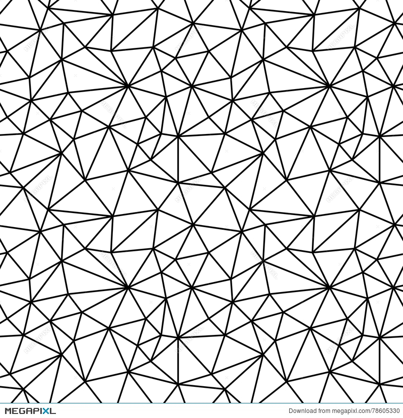 Geometric Black And White Hipster Fashion Polygon Background Pattern