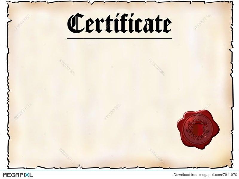 blank certificate illustration 7911070 megapixl