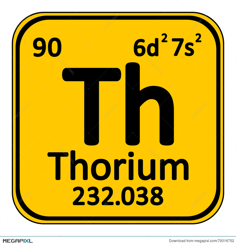 Periodic Table Element Thorium Icon Illustration 79316752 Megapixl