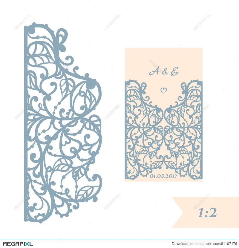 Wedding Invitation Or Greeting Card With Abstract Ornament