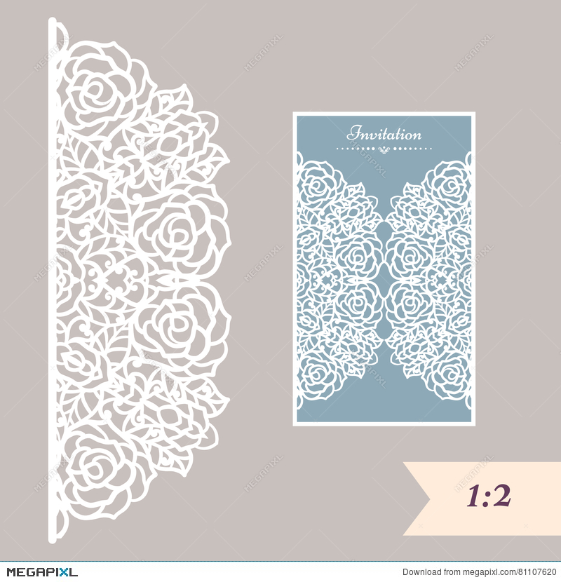 Wedding invitation or greeting card with abstract ornament vector wedding invitation or greeting card with abstract ornament vector envelope template for laser cutting stopboris Gallery