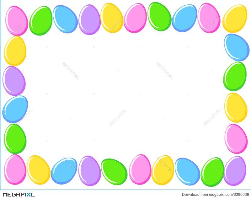 Easter Eggs Border Illustration 8390886