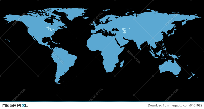 World map black background illustration 8401929 megapixl world map black background gumiabroncs Gallery