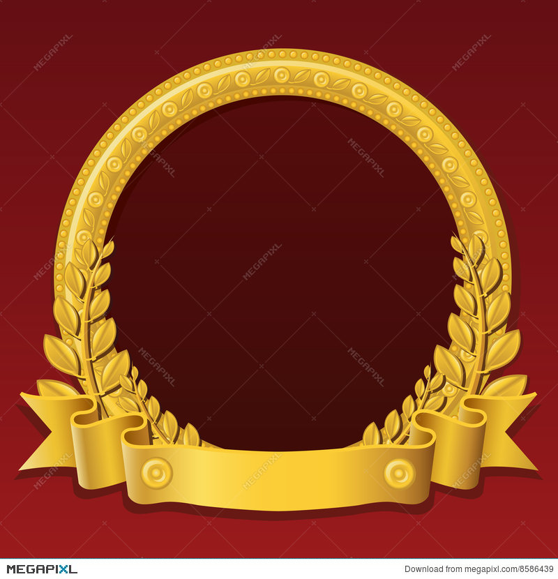 Golden round frame illustration 8586439 megapixl golden round frame thecheapjerseys Image collections