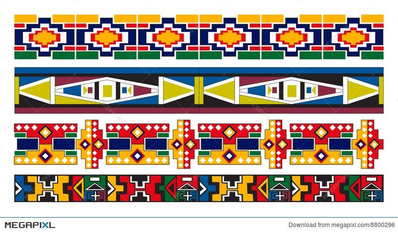 Ndebele African Border Pattern Art Illustration 8800296