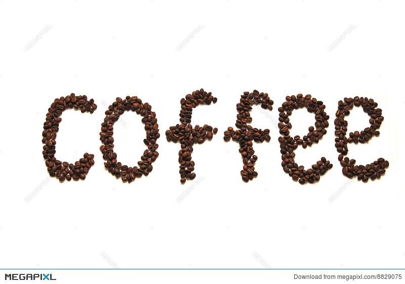 Coffee Word Written Grain Coffee Stock Photo 8829075 Megapixl