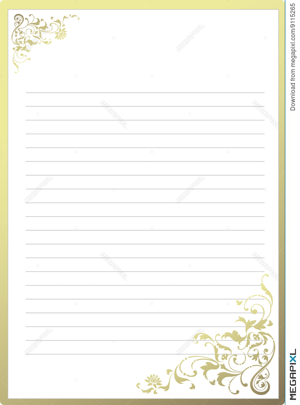 fancy notepaper illustration 9115265 megapixl