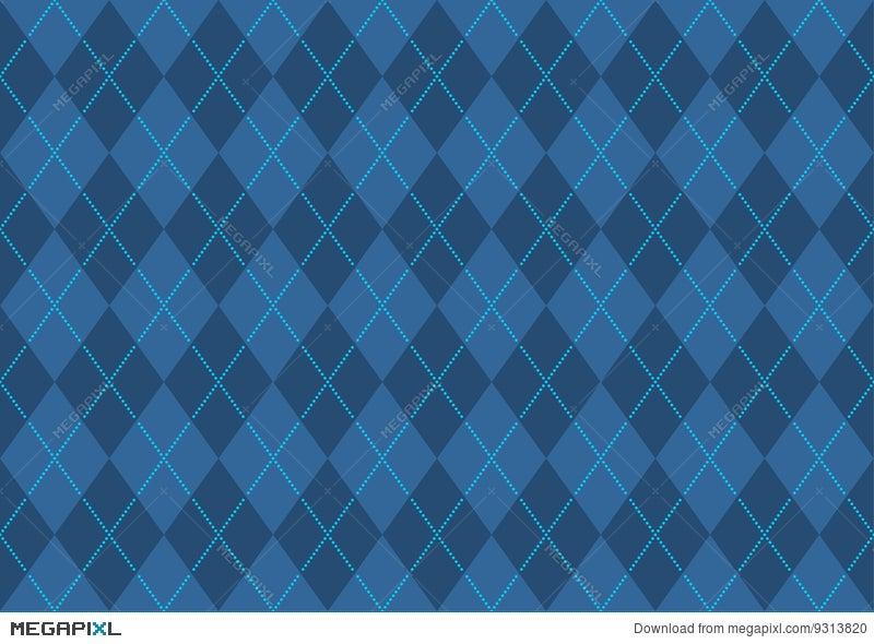 Blue Argyle Wallpaper Illustration 9313820