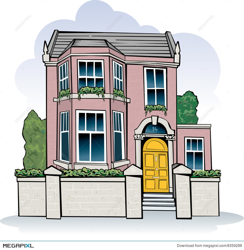 victorian house illustration 9359288 megapixl