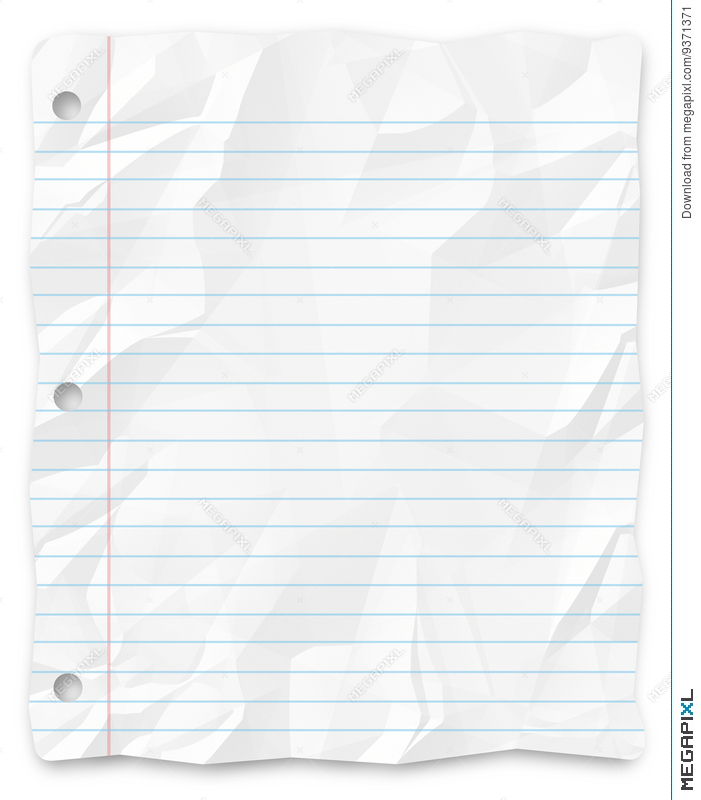 Student Writing Paper Lined Three Hole Punched  Paper Lined