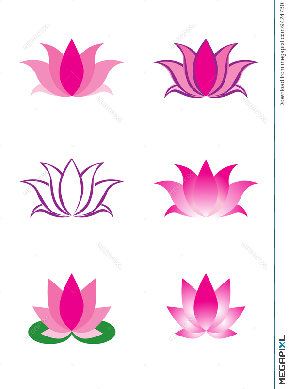 Illustration Of Lotus Flower Illustration 9424730 Megapixl
