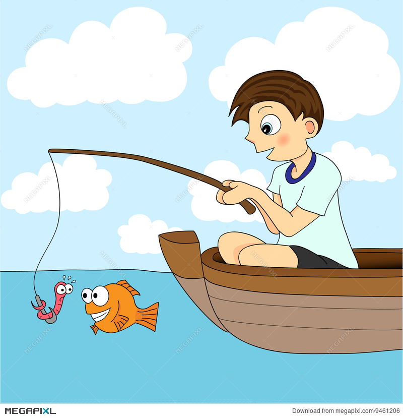 Boy fishing clipart free images - WikiClipArt