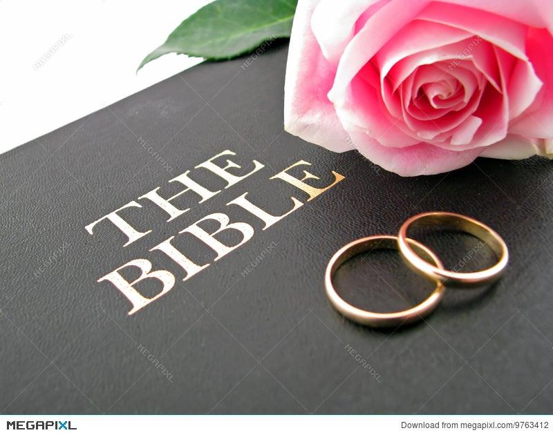 Bible Wedding Rings And Rose