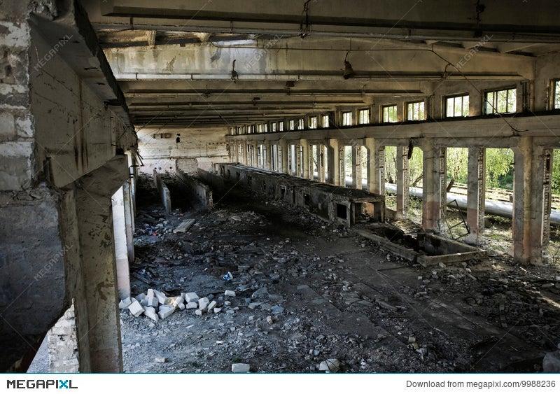 Empty Industrial Room Stock Photo 9988236