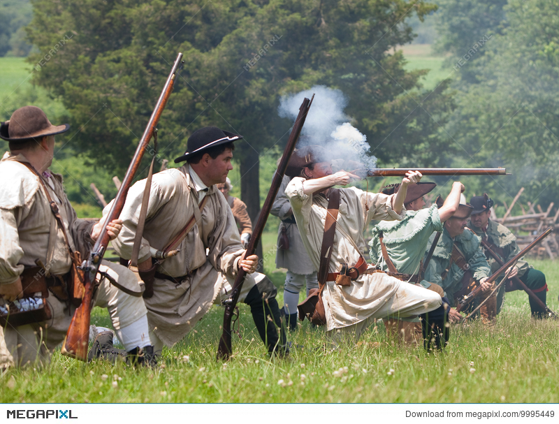 Revolutionary War Reenactment Stock Photo 9995449 - Megapixl